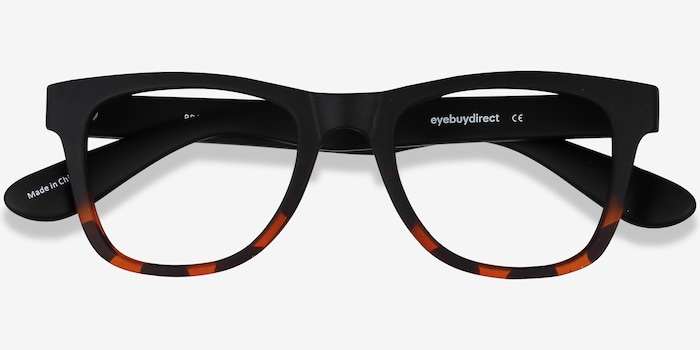 Project Black Tortoise Plastic Eyeglass Frames from EyeBuyDirect, Closed View