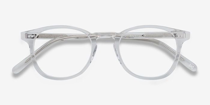 Symmetry Translucent Acetate Eyeglass Frames from EyeBuyDirect, Closed View