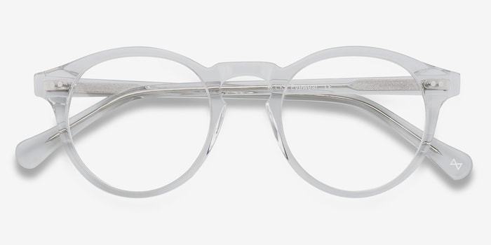 Theory Translucent Acetate Eyeglass Frames from EyeBuyDirect, Closed View