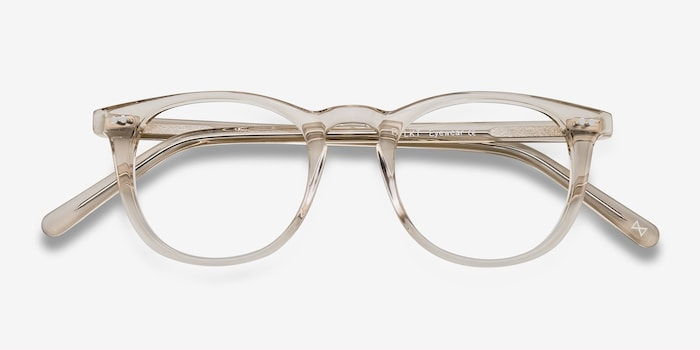 Aurora Champagne Acetate Eyeglass Frames from EyeBuyDirect, Closed View