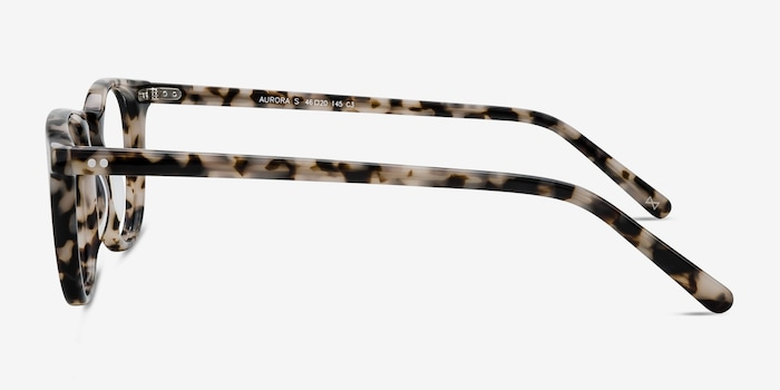 Aurora Flecked Ivory Acetate Eyeglass Frames from EyeBuyDirect, Side View