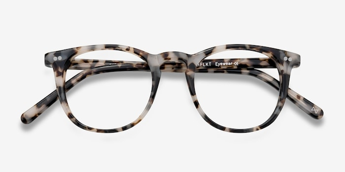 Aurora Flecked Ivory Acetate Eyeglass Frames from EyeBuyDirect, Closed View