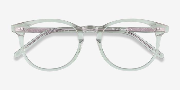 Aura Clear Jade Acetate Eyeglass Frames from EyeBuyDirect, Closed View