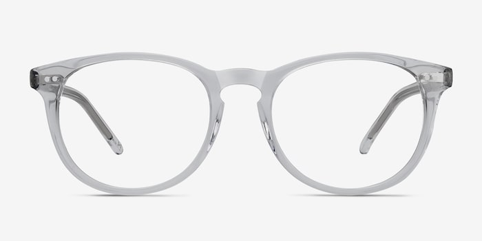 Aura  Translucent Acetate Eyeglass Frames from EyeBuyDirect, Front View