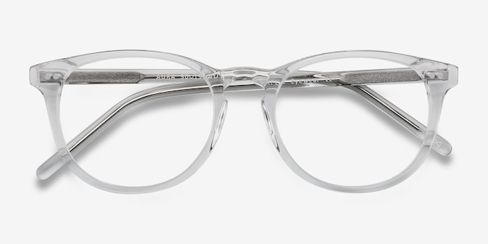 Aura  Translucent Acetate Eyeglass Frames from EyeBuyDirect, Closed View