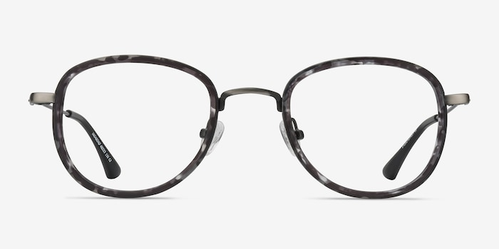 Gray Floral Vagabond -  Vintage Plastic Eyeglasses