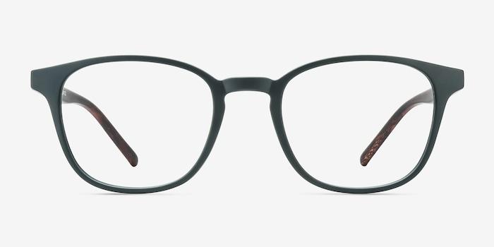 Allegory Dark Green Plastic Eyeglass Frames from EyeBuyDirect, Front View