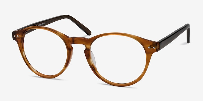 Method Brown Acetate Eyeglass Frames from EyeBuyDirect, Angle View
