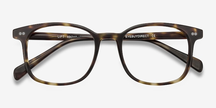 Lift Tortoise Acetate Eyeglass Frames from EyeBuyDirect, Closed View