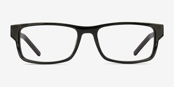 Aidan Black Acetate Eyeglass Frames from EyeBuyDirect, Front View