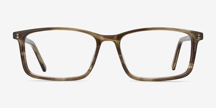Crane Brown Acetate Eyeglass Frames from EyeBuyDirect, Front View