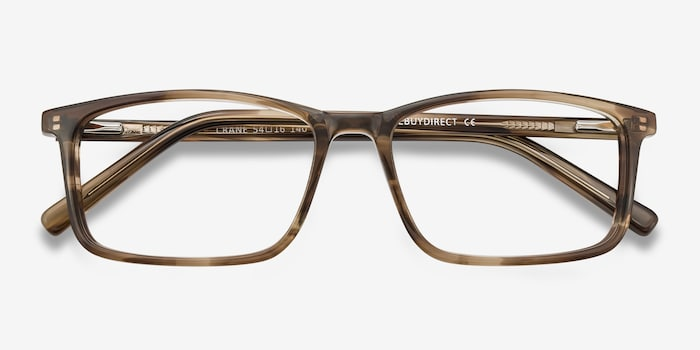 Crane Brown Acetate Eyeglass Frames from EyeBuyDirect, Closed View