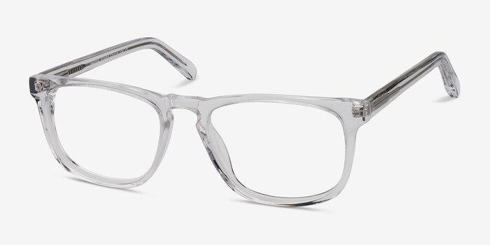 Rhode Island Clear Acetate Eyeglass Frames from EyeBuyDirect, Angle View