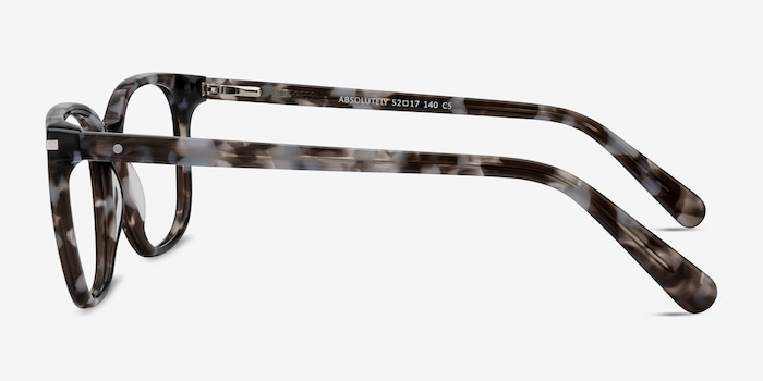 Absolutely Gray Floral Acetate Eyeglass Frames from EyeBuyDirect, Side View
