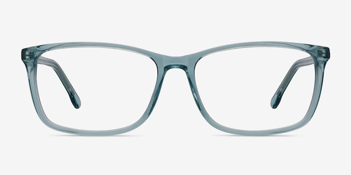 Constellation Clear Blue Acetate Eyeglass Frames from EyeBuyDirect, Front View