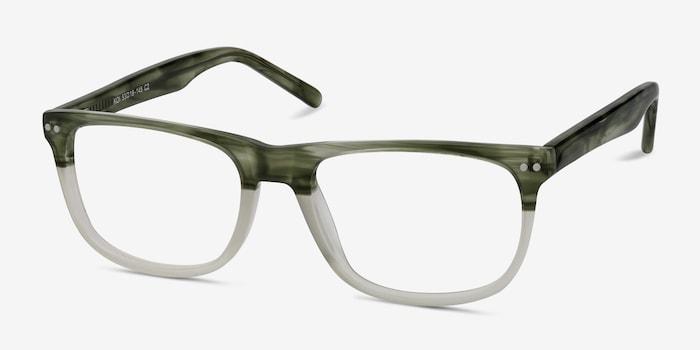 Koi Green Acetate Eyeglass Frames from EyeBuyDirect, Angle View