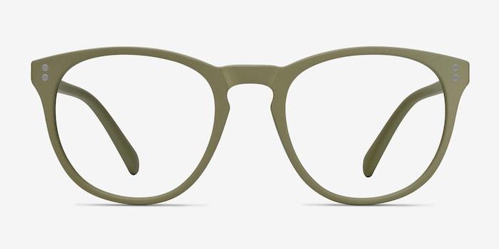 Legendary Green Plastic Eyeglass Frames from EyeBuyDirect, Front View