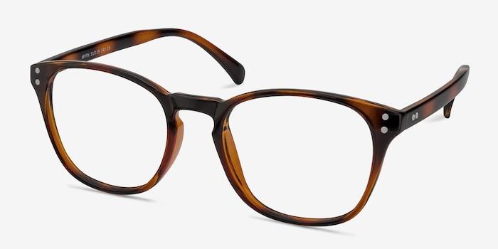 Myth Brown Plastic Eyeglass Frames from EyeBuyDirect, Angle View