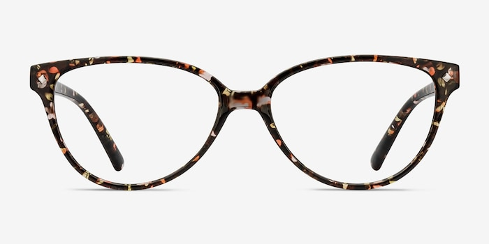 Dame Floral Plastic Eyeglass Frames from EyeBuyDirect, Front View