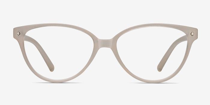 Dame Matte Clear Plastique Montures de Lunettes d'EyeBuyDirect, Vue de Face