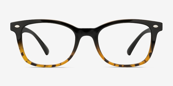 Black Brown Drama -  Vintage Plastic Eyeglasses