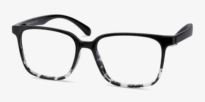 Blocks Black Clear Plastic Eyeglass Frames from EyeBuyDirect, Angle View