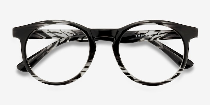 Thrill Black clear Plastic Eyeglass Frames from EyeBuyDirect, Closed View