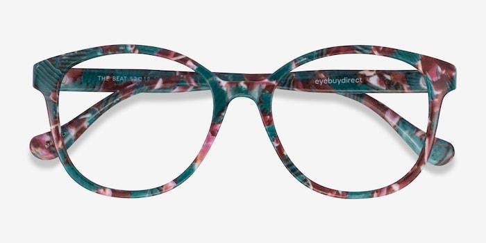 The Beat Floral Plastique Montures de Lunettes d'EyeBuyDirect, Vue Rapprochée