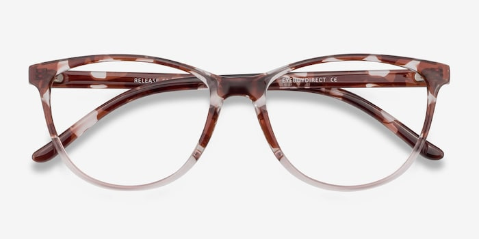Release Floral Plastic Eyeglass Frames from EyeBuyDirect, Closed View