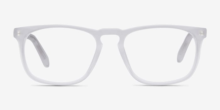 Rhode Island Matte Clear Acetate Eyeglass Frames from EyeBuyDirect, Front View