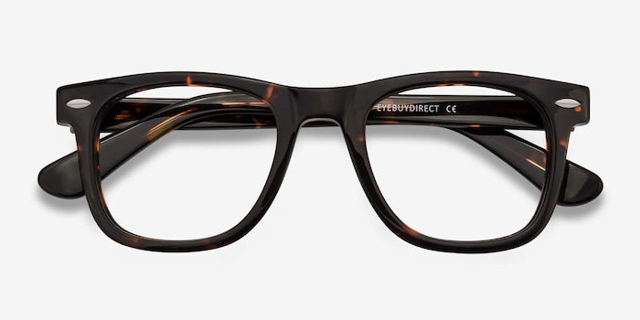 Blizzard Dark Tortoise Acetate Eyeglass Frames from EyeBuyDirect, Closed View