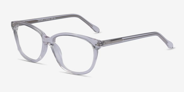 Escape Clear Acetate Eyeglass Frames from EyeBuyDirect, Angle View