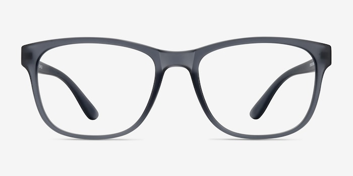 Milo Matte Gray Plastic Eyeglass Frames from EyeBuyDirect, Front View