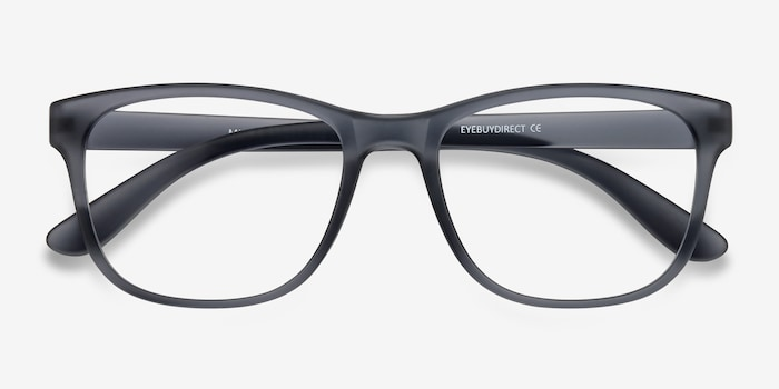 Milo Matte Gray Plastic Eyeglass Frames from EyeBuyDirect, Closed View