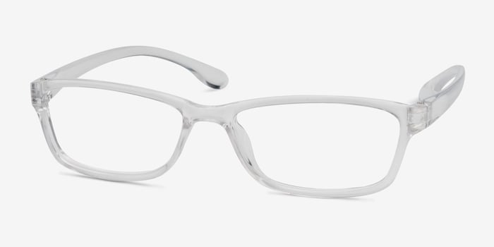 Versus Clear Plastic Eyeglass Frames from EyeBuyDirect, Angle View
