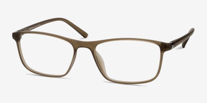 Wyoming Matte Hazel Plastic Eyeglass Frames from EyeBuyDirect, Angle View