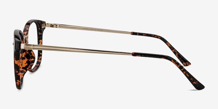 Cosmo Tortoise Metal Eyeglass Frames from EyeBuyDirect, Side View