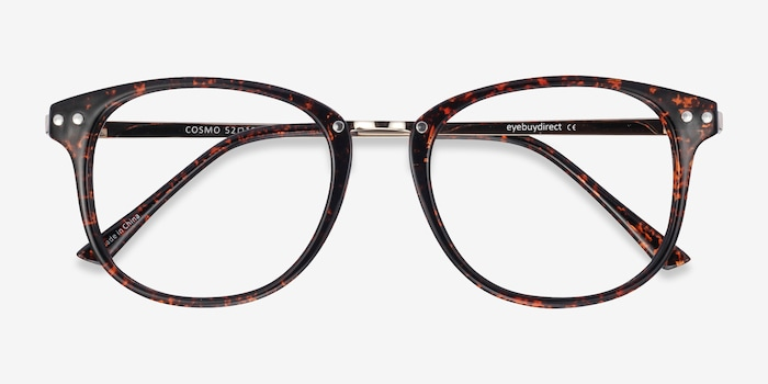 Cosmo Tortoise Metal Eyeglass Frames from EyeBuyDirect, Closed View