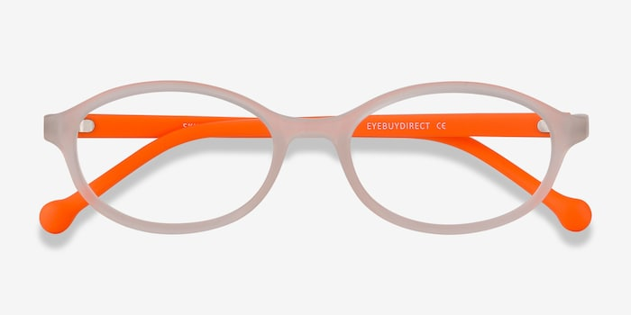 Skipper Matte Clear Plastic Eyeglass Frames from EyeBuyDirect, Closed View