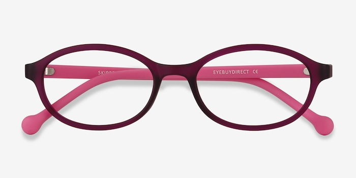 Skipper Purple Plastic Eyeglass Frames from EyeBuyDirect, Closed View