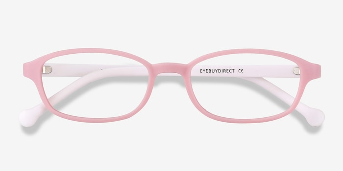 Sprint Pink Plastic Eyeglass Frames from EyeBuyDirect, Closed View