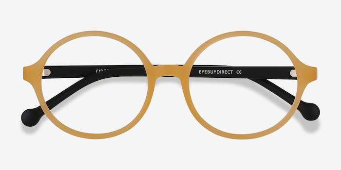 Circo Yellow Plastic Eyeglass Frames from EyeBuyDirect, Closed View