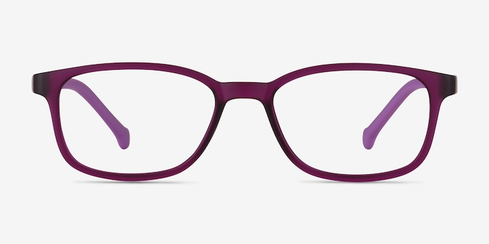 Posie Purple Plastic Eyeglass Frames from EyeBuyDirect, Front View