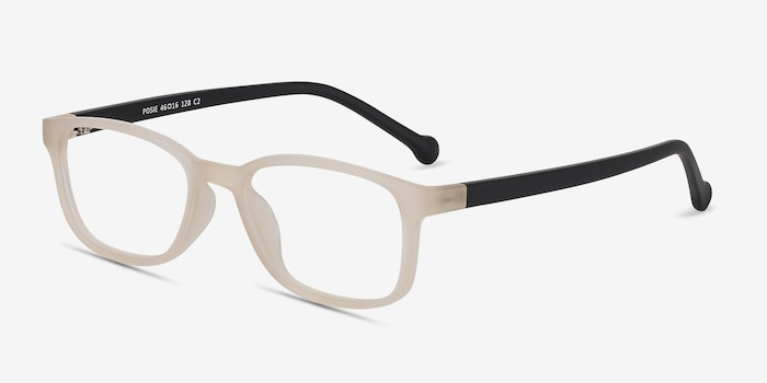 Posie Matte Clear Plastic Eyeglass Frames from EyeBuyDirect, Angle View