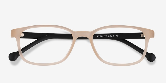Posie Matte Clear Plastic Eyeglass Frames from EyeBuyDirect, Closed View