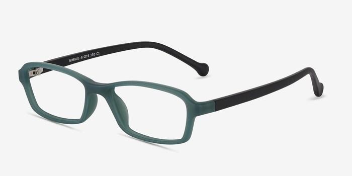 Nimbus Green Plastic Eyeglass Frames from EyeBuyDirect, Angle View