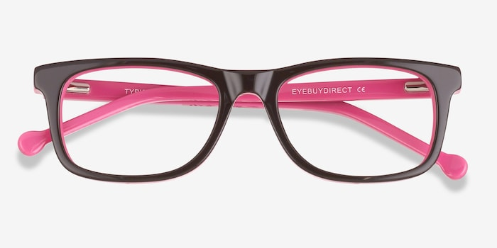 Typist Purple Acetate Eyeglass Frames from EyeBuyDirect, Closed View