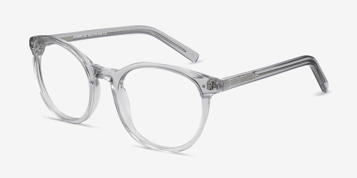Primrose Gray Clear Acetate Eyeglass Frames from EyeBuyDirect, Angle View