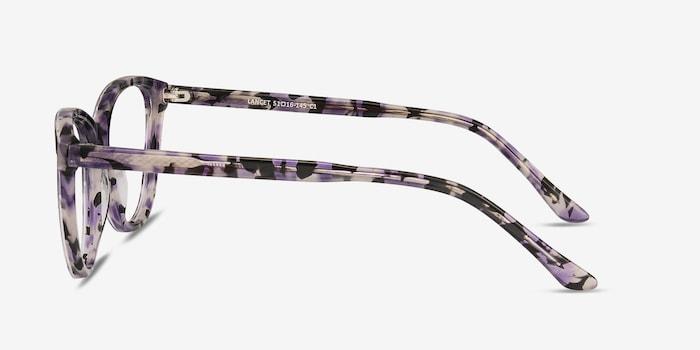 Lancet Purple Floral Acetate Eyeglass Frames from EyeBuyDirect, Side View