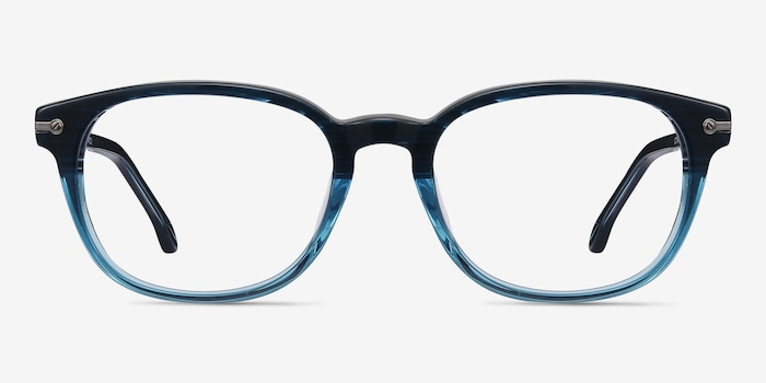 Blue Striped Nova -  Acetate Eyeglasses